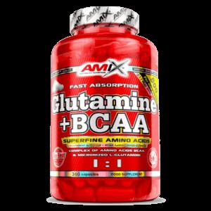 Glutamina + Bcaa´s 360 capsulas AMIX